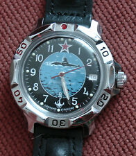 Wrist Mechanical Watch VOSTOK KOMANDIRSKIE Submarine Commander Military 811163