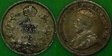 1912 Canada Silver Nickel Graded as Very Fine