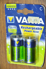 Varta Rechargeable Batt Accu C Type LR14 3000mAh Ni-Mh 1000 Cycle No Memo Effect