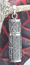 Handmade Solid Sterling Silver .925 Bali Large Vintage Style Perfume/Urn Pendant