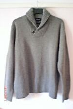M&S Blue Harbour Mens Oatmeal Pure Lambswool  Collared Jumper Size XL