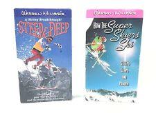 Warren Miller's Steep & Deep & How the Super Skiers Ski - VHS LOT