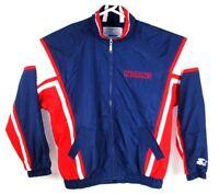 Vintage Starter Cleveland Indians Full Zip Windbreaker Jacket Adult L Pockets