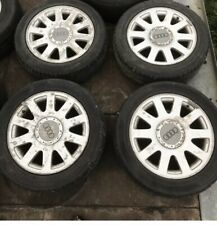 "AUDI A4 B6 16"" 10 SPOKE ALLOY WHEELS X4 5x112 205/55R16 16x7J ET45 4A0601025P"
