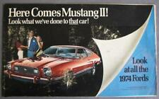 Look At All The 1974 Fords/Mercury Mustang II Advertising Supplement Brochure