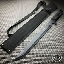 "18"" Survival Hunting Tactical Full Tang Fixed Blade Machete Knife Ninja Sword"