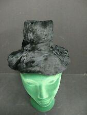Antique Victorian Edwardian infant child baby hat 1800s Black Fur baby child Hat