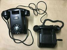 Altes Ericsson Telefon-set - Wählscheibe (Wand) u. Kurbel (Tisch) - 1950er Jahre