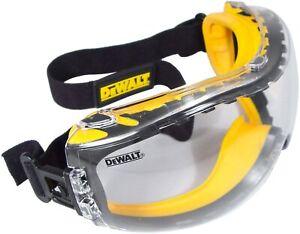 DeWalt DPG82-11 Concealer Clear Anti-Fog Over Glasses Safety Goggles, 1 Pair