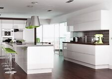 Replacement kitchen cupboard Gloss White Handleless Doors