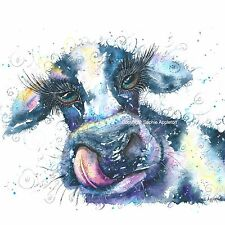 Watercolour Painting THE DIRTY COW by Sophie Appleton replica of Original art