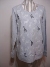 Style & Co. Women's Cotton Sport Sweatshirt Top Gray Holiday SIZE M. RETAIL $49