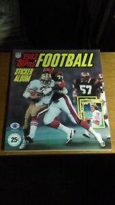 Unused 1982 Topps Football Sticker Album (Joe Montana) EX-MT