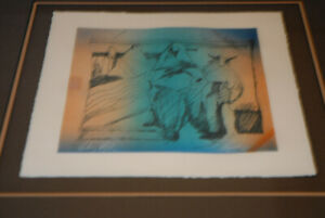 Veloy Vigil VERY RARE 12/20 Signed Numbered Framed Lithograph Pueblo Indian ART