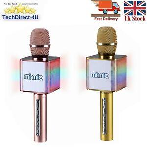 Mi-Mic Bluetooth Karaoke Microphone Speaker With Flashing LED Lights Kids Gift