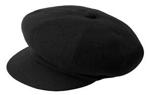 Kangol Original Baker's Boy Cap Wool Spitfire Black New Trend