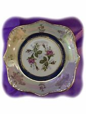 VINTAGE Lovely China Rose Dish Made In Japan ~ Rainbow Colors!