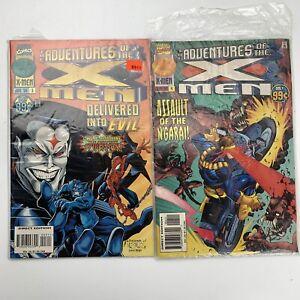 Adventures of X-Men Comic Book # 3 & # 4 1996