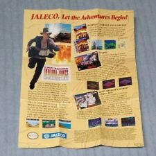 JALECO Poster (Bases Loaded, Young Indiana Jones Chronicles, Q-Bert, Cyberball)