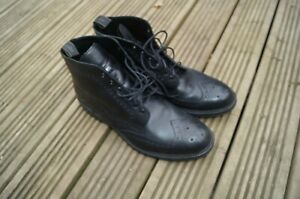 Loake Brogue Bedale Boots 12 UK  Black- Barely worn!
