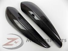 2006 2007 ZX10-R ZX10R Exhaust Muffler Heat Shield Cover 100% Carbon Fiber