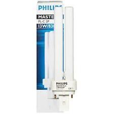 2 Stück Energiesparlampe G24d-1 230V 10W-840 2Pin  Philips Master PL-C 2P