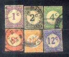 1924 Straits Settlements Postage Due Complete Set
