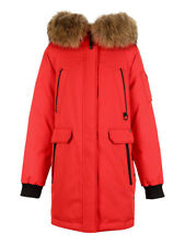 ONLY Brand Women's Kelly Down Parka Coat w/ Real Fur-lined Hood Red XL/175/92A