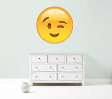 Emoji emoticons wink cheek vinyl wall car decal giant sticker 5 sizes bedroom