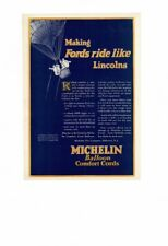 VINTAGE 1920's MICHELIN MAN BALLOON COMFORT CORDS TIRES HOT AIR BALLOON AD PRINT