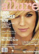 Allure magazine Carrie Underwood Younger skin Makeup tips Hair therapy Dresses