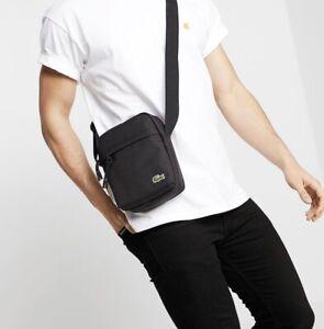 LACOSTE Neocroc Crossover Bag Tasche Umhängetasche Black Schwarz / Neu Unisex