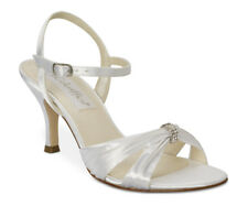 COLORIFFICS 5838 Tori Dyeable White Satin High Heel Wedding Sandals Sz 7.5 M NEW