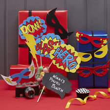Comic Superhero Photobooth Props - 10 Party Props