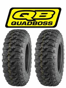 (2) QuadBoss QBT446 25x10-12 8 Ply Radial Utility ATV/UTV Tires - 25x10x12