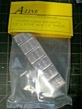 """A-Line Self Adhesive LEAD WEIGHTS 1/2"""" x 3/4""""W x 1/4"""" Thick 1/2 oz 14 GM #13002"""