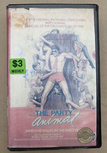 The Party Animal [VHS] Showcase Video Big Box Ex-Rental Tape 1984!