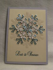 Paper magic christmas handcrafted greeting cards gift tags ebay paper magic handmade let it snow snowflake christmas greeting card new m4hsunfo