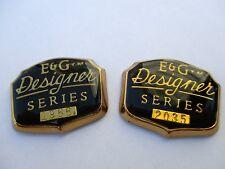 2 Brand New E&G Designer Series Pillar Nameplate emblem side badge vintage rare