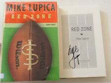 """Mike Lupica SIGNED """"Red Zone"""" 2003 Sports Footbal 1st HC/DJ  Bump & Run Sequel"""