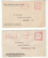 Victoria Melbourne 2 x POSTAGE PAID covers 1955, 1956
