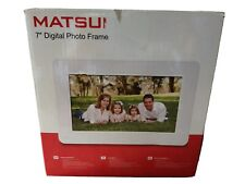 "White Matsui 7"" Digital Photo Frame - Opened but never used."