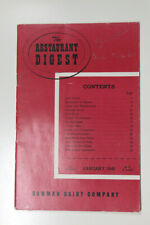 The Restaurant Digest, The Bowman Dairy Co, January 1949 Booklet
