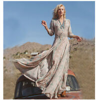 Women Summer New Bohemian Chiffon Evening Beach Dresses Long Maxi Dress Sundress