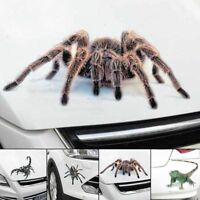 1x 3D Spider Decal Crawling Car Auto SUV Truck Window Vinyl Hood Sticker Graphic