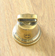 Miniature Swiss Style Cow Bell Italian Cast Brass Polished finish