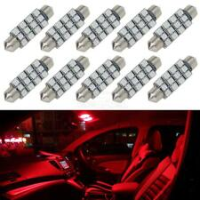 10pcs Red 12-SMD 42mm Festoon Dome Map Trunk LED Lights Car Bulbs 578 For Ford