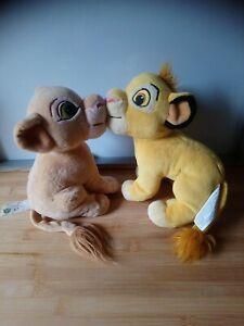Peluches doudou roi lion Simba Nala nez aimanté Disney Giochi Preziosi
