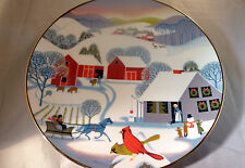 Christmas Morning  LIMITED 9694w Fine China Plate 1980 World Book Betsey Bates