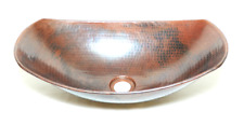 17-inch Copper Vessel Sink Handmade, Vessel Hand Made Copper, Hammered Copper
